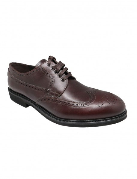Zapato picado burdeos 717345B