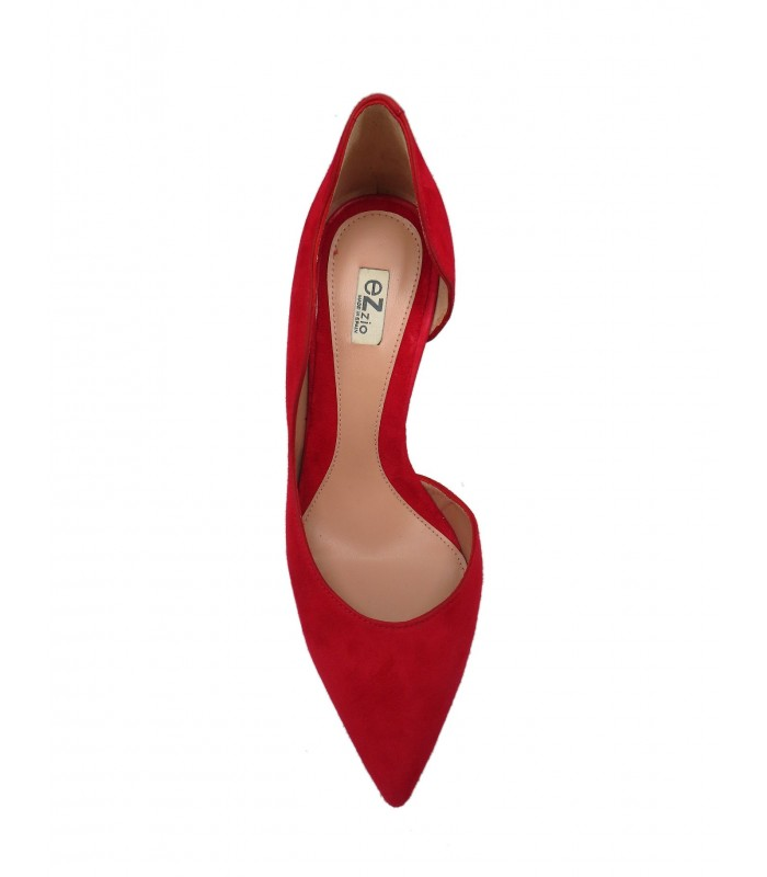 zapato ondas rojo