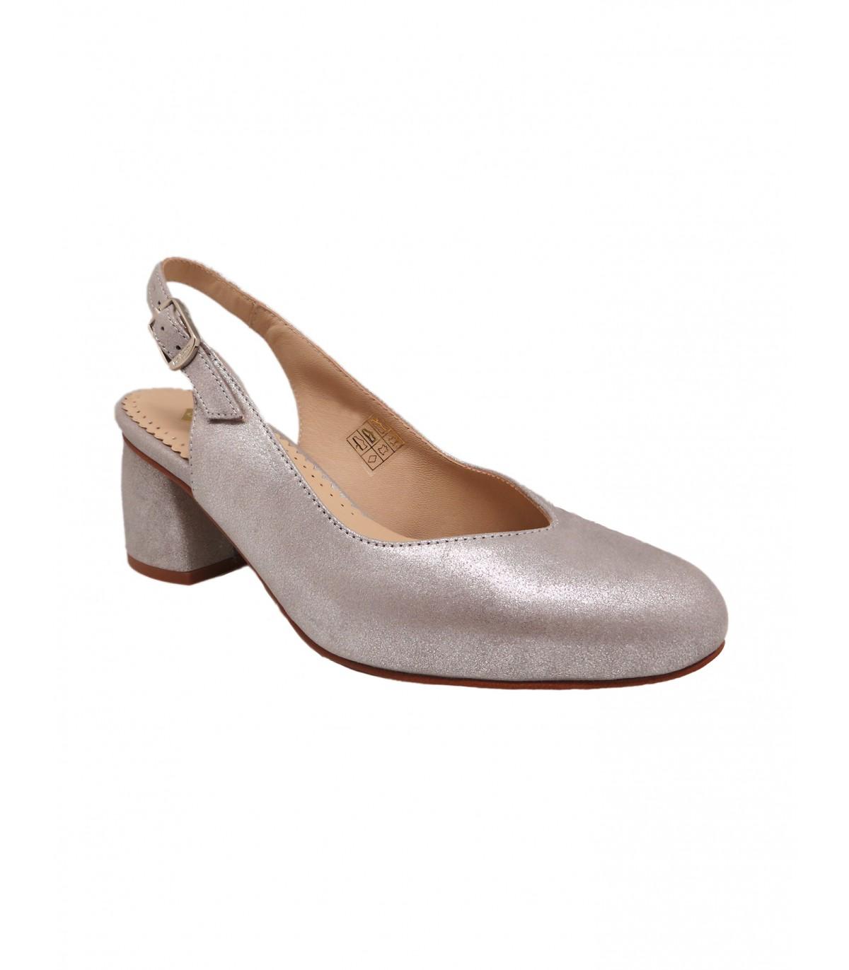 Zapato De Vestir En Color Plata Para Mujer Tallas Grandes Y Pequenas